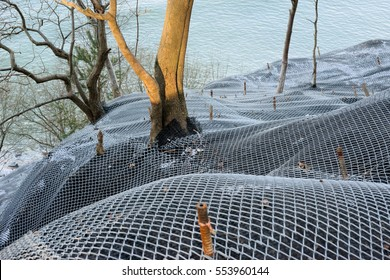 Mountain slope reinforced steel protective mesh