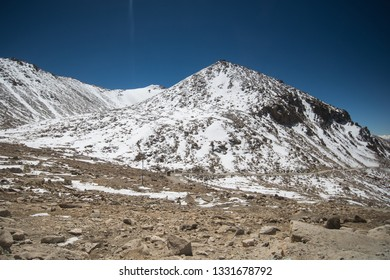 Mountain with snow Landscape view in Leh, Ladakh, India.