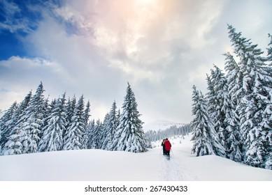 Mountain sport turist