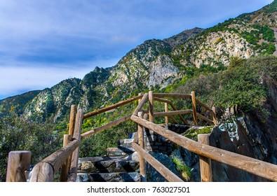 Mountain staircase in Andorra la Vella.