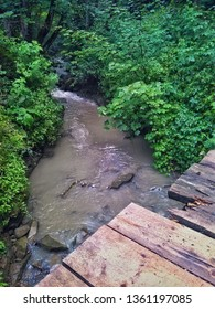 Mountain stream after the rain