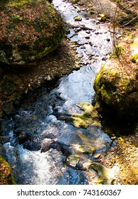mountain stream between rocks