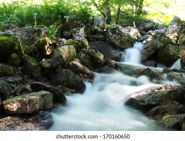Mountain stream during spring