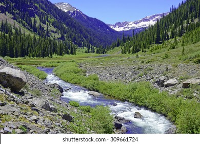 Mountain stream in the Elk Range, Colorado Rockies