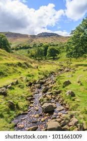 Mountain stream, Greenfield, Oldham, Lancashire, England, United Kingdom, UK