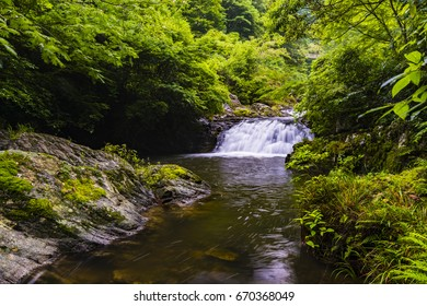 Mountain stream, river. Saga, Japan, Asia.