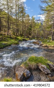 Mountain stream in South Tyrol, Italy