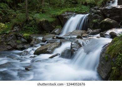 Mountain stream torrent de Tiere (Champery, Switzerland)