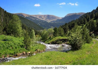 Mountain stream in Vall de Ransol (Pyrenees, Andorra)