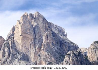 Mountain summit in the Dolomites (Italy)