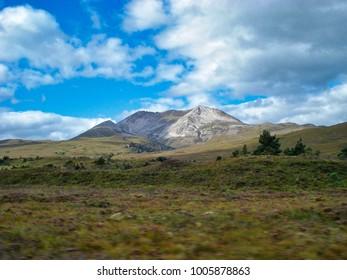 Mountain in the sun