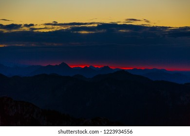 Mountain, Sundown, Alps