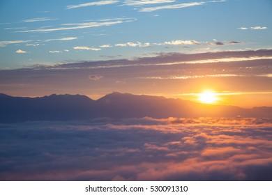 Mountain and Sunrise