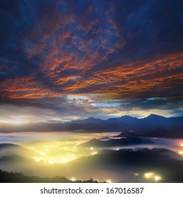 mountain sunruse