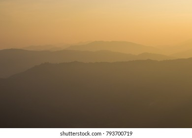Mountain in the sunset time