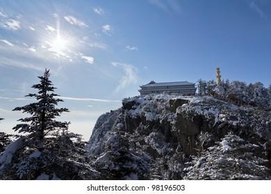 The mountain sunshine