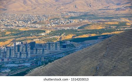The mountain surrounding Sulaymaniyah, Iraq