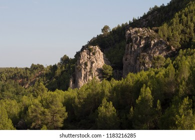 Mountain of the swamp of Alcora in the province of Castellon, Valencian community. Abrupt, rocky landscape.