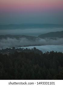 Mountain tamalpais sunset color full