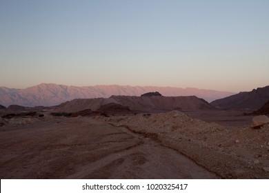 Mountain in Timna park in Negev desert in Israel