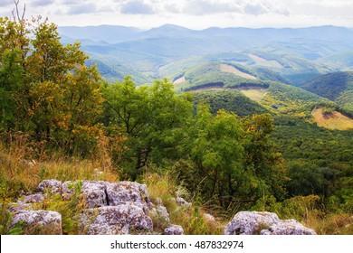 Mountain top in Bukk mountains in Hungary