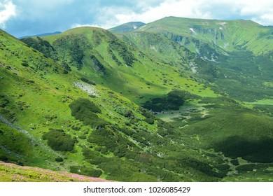 Mountain top, Ukraine, Carpathian Mountains