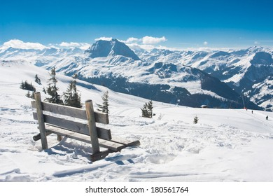 Mountain top in the winter