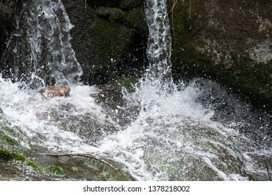 Mountain torrent falling