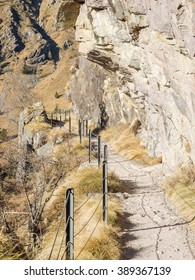 Mountain trail. Orobie Alps