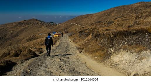 Mountain Trekking to Sandakphu, Hiking in Mountains, Landscape, Travel Inspirational