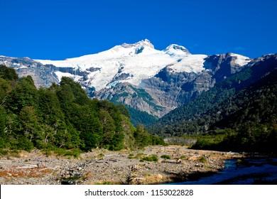 Mountain Tronador, Province  Rio Negro, Andes. Argentina.