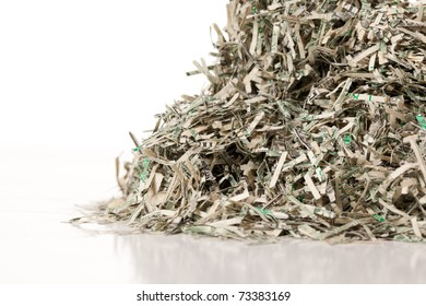 Mountain of United States currency that has been taking out of circulation is shredded by the Federal Reserve Bank and given to visitors.  Nice way to take out the trash.