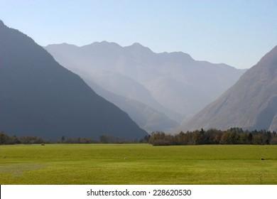 Mountain Valley in Bovec, Slovenia