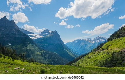Mountain valley in Glacier National Park, Montana, USA