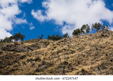 Mountain in the valley in Huancaya Peru