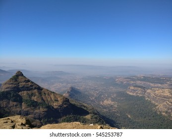 Mountain and Valley View from Lonavala, India