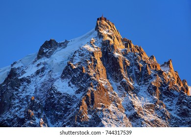 Mountain view from Aiguille du Midi and Mont Blanc,France,Europe