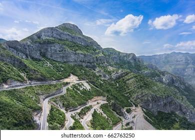 Mountain view in Albania.