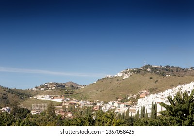 mountain view in almunecar spain, a tourist town in a province of Granada in the Costa Tropical