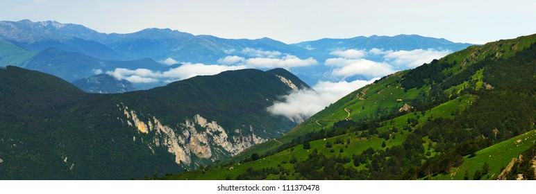 Mountain view in Ariege, France