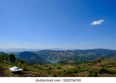 Mountain View around Doi Chang, Chiang Rai, Thailand.