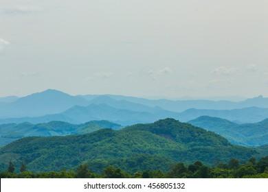 Mountain view background.