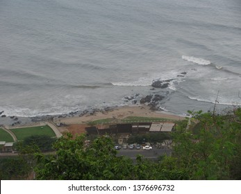 Mountain view of beach in vizag. Visakapatnam is the famous tourist place in india with excellent beaches and city landscapes