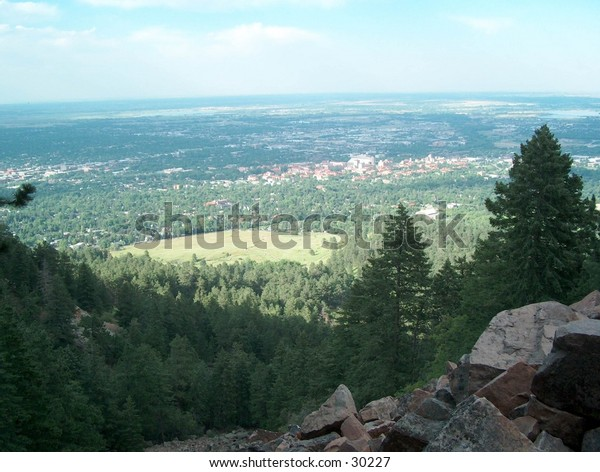 Mountain view from Boulder, CO