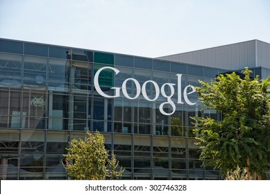 MOUNTAIN VIEW, CA - AUGUST 1, 2015: Google headquarters, also known as Googleplex, in Mountain View, California on August 1 2015