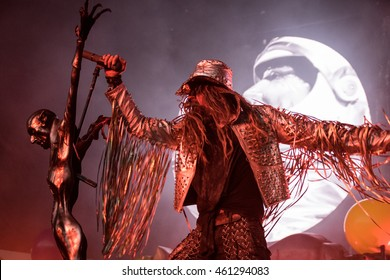 MOUNTAIN VIEW, CA - JULY 29, 2016: Rob Zombie in concert at the Shoreline Amphitheater in Mountain View, CA