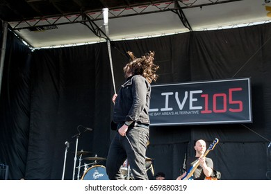 MOUNTAIN VIEW, CA - JUNE 10, 2017: Live 105's BFD - Taking Back Sunday in concert at the Shoreline Amphitheater in Mountain View, CA