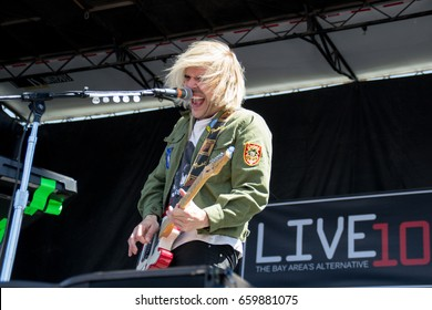 MOUNTAIN VIEW, CA - JUNE 10, 2017: Live 105's BFD - New Politics in concert at the Shoreline Amphitheater in Mountain View, CA