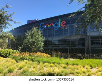 """Mountain View, CA  - June 16, 2017. An exterior photo of the Google headquarter also known as """"Googleplex"""" in Silicon Valley."""