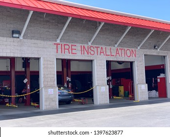 Mountain View, CA (USA) - May 5, 2019. Tire Installation Center at a Costco Wholesale store in Silicon Valley.